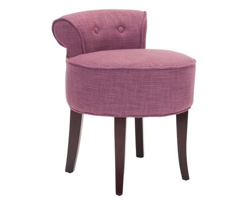 Sgabello in betulla e viscosa georgia rosa colore marrone rosa ad