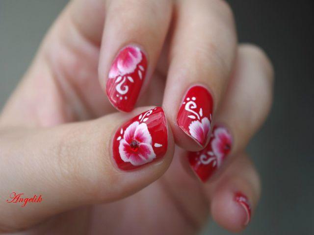 cute simple nail design short