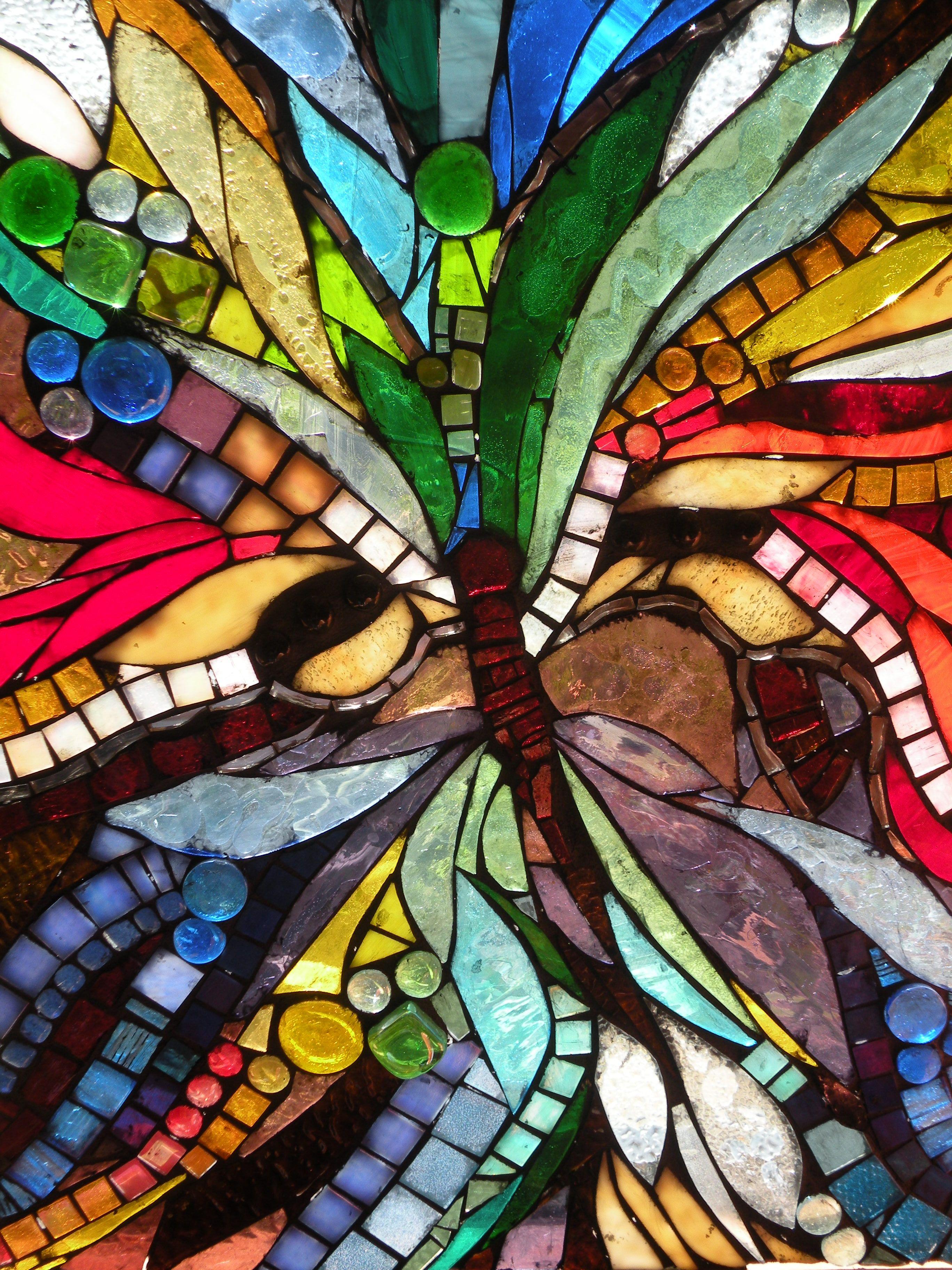 Glass mosaic butterfly   Mosaic Butterflies   Mosaic glass ...