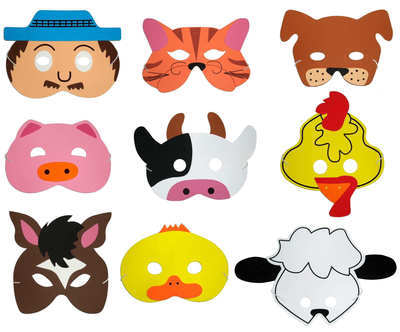 Foam Animal Masks Craft