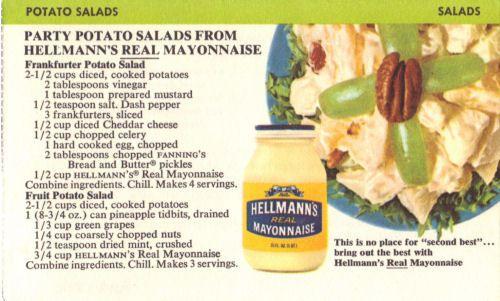 Party Potato Salads Recipe Card