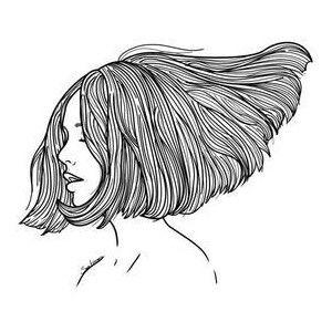 Girl With Short Hair Arte Inspiradora Producao De Arte Ilustracao De Cabelo