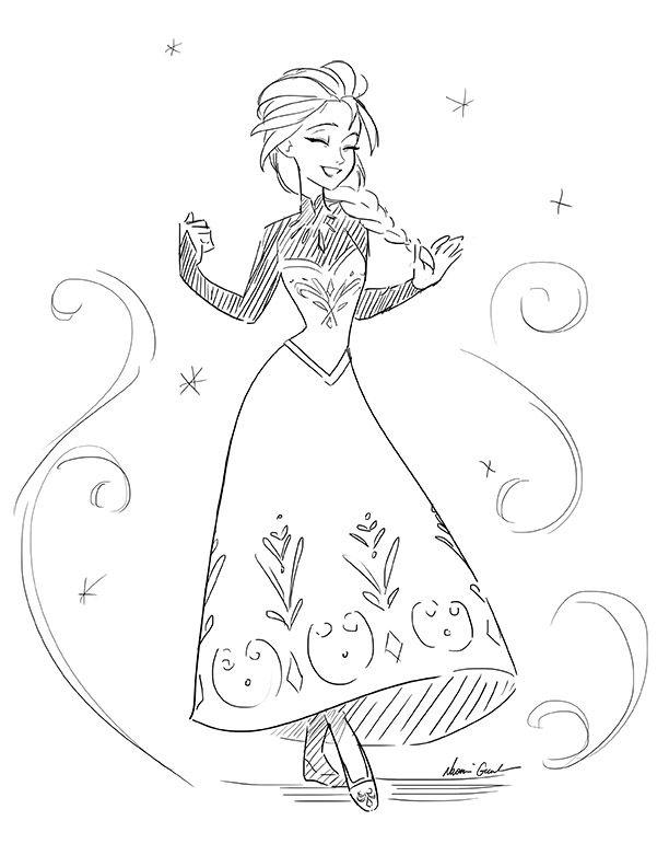 dessin elsa disney elsa disney art disney Disney Frozen Elsa Doll dessin elsa