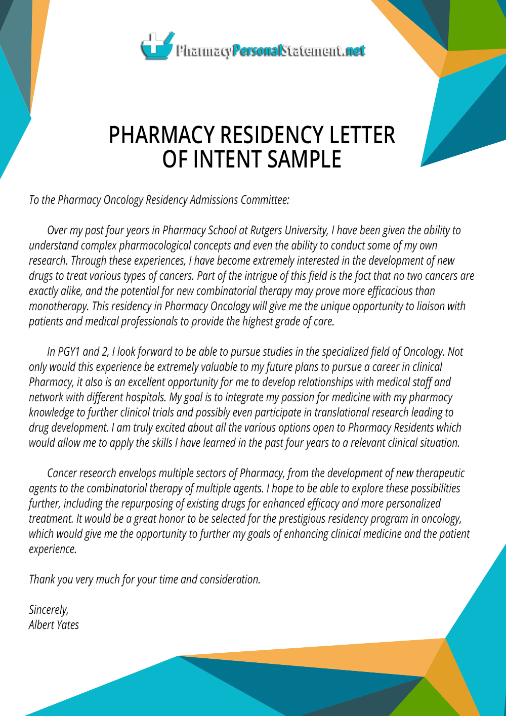 Pin by Pharmacy Application Samples on Pharmacy Residency ...