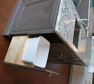 Kitchen Island With Prep Sink cambria counters next to smokey hills omega cabinets.   home