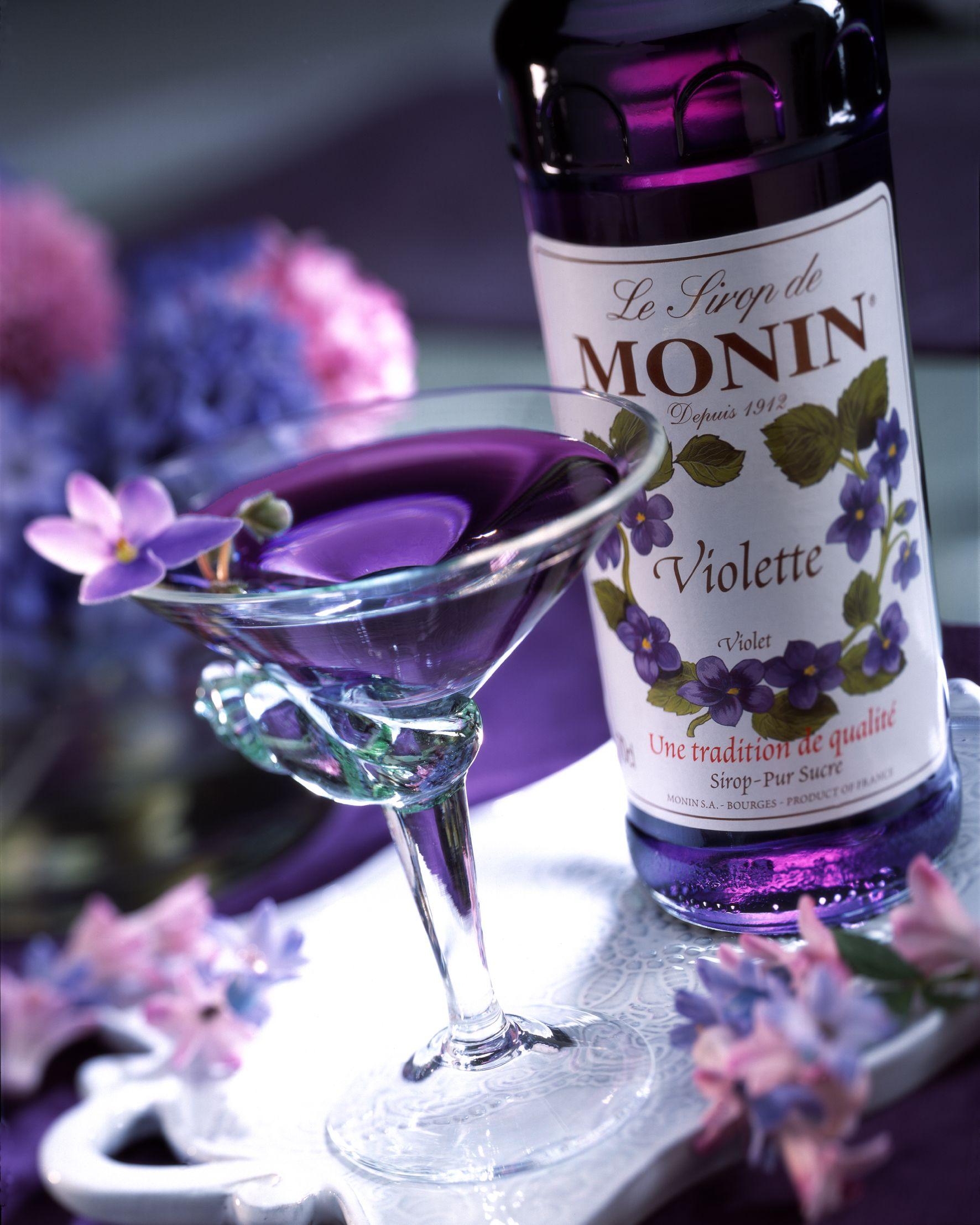Sirop de violette monin wines spirits pinterest - Sirop de violette ...