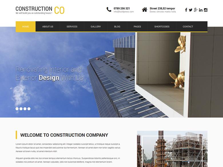 SKT Construction Lite es un tema orientado a la construcción, la ...