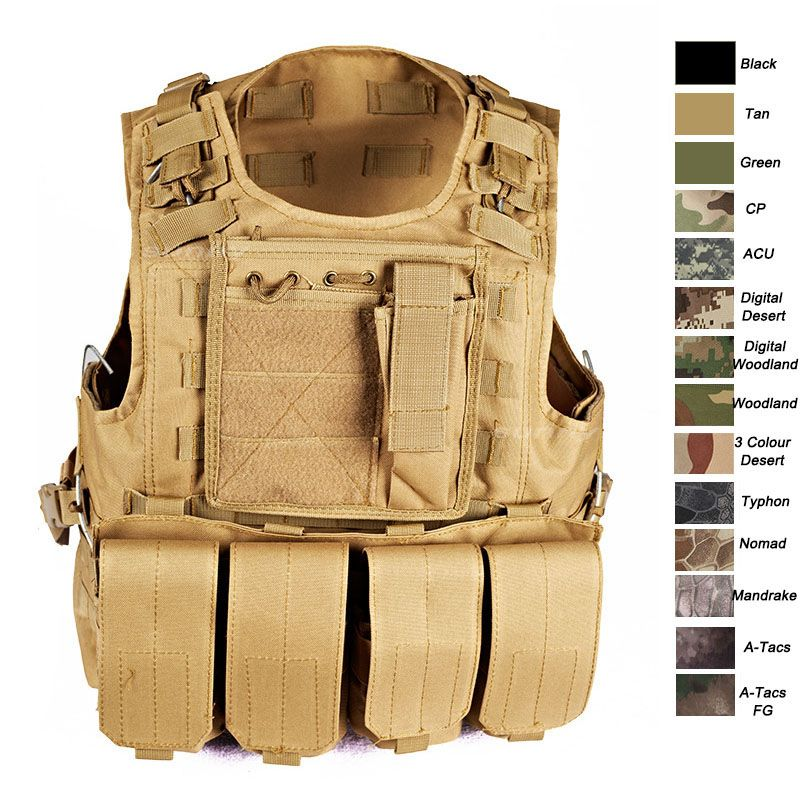 Plate Carrier Vest Tactical Vest Molle Vest Combat Vest Camouflage Military Vest Assault Vest Body Armor As Tactical Vest Plate Carrier Vest Assault Vest