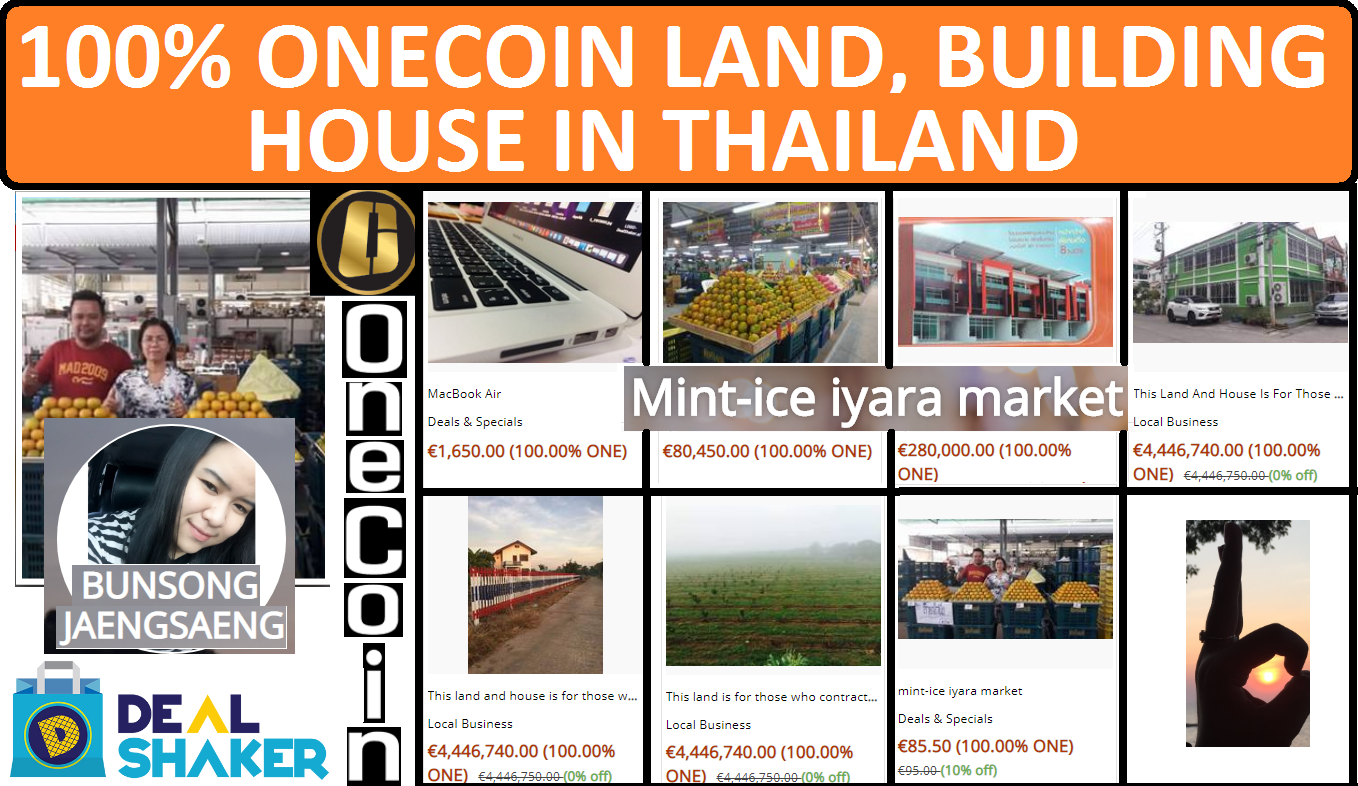 100% ONECOIN LAND, BUILDING & HOUSE IN THAILAND | DEALSHAKER