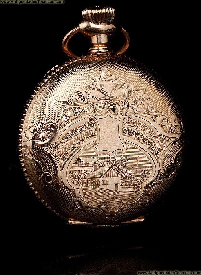 7346370b7 reloj de bolsillo antiguo Elgin … | Relojes en el tiempo y el ...