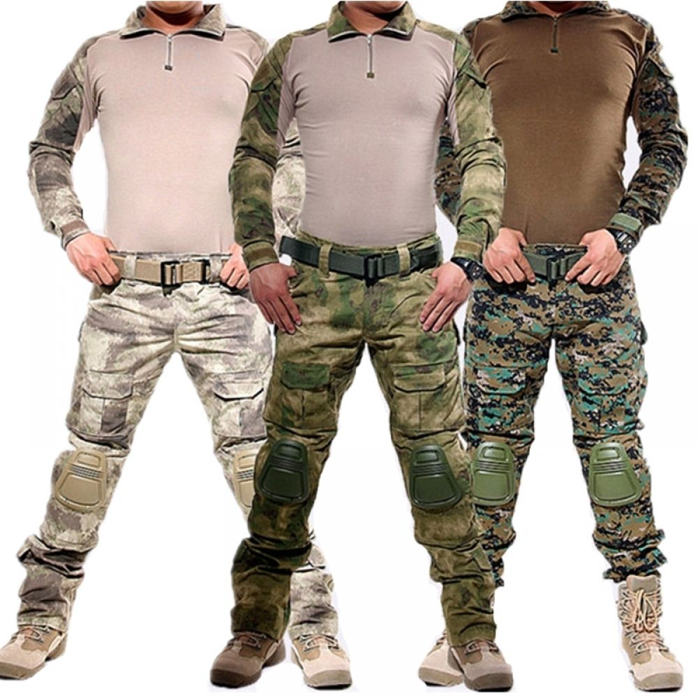 d395fa4eebb81 Army Military Uniform Camouflage Tactical Combat Suit Airsoft War Game  Clothing Shirt + Pants Elbow Knee Pads Price: 82.00 & FREE Shipping  #hashtag4