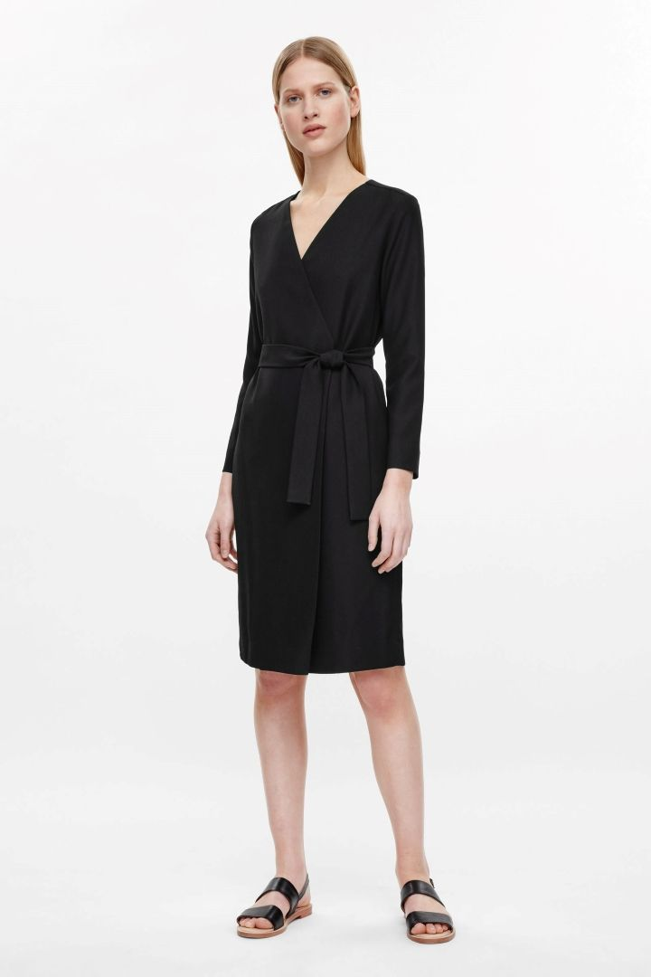 3ae969de0b8a4 $125 COS Wrap dress with tie | Office Style | Wrap dress, Dresses ...