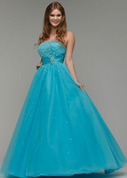 Cassandra - Prom Dress! Strapless prom dress, with beaded bust and ...