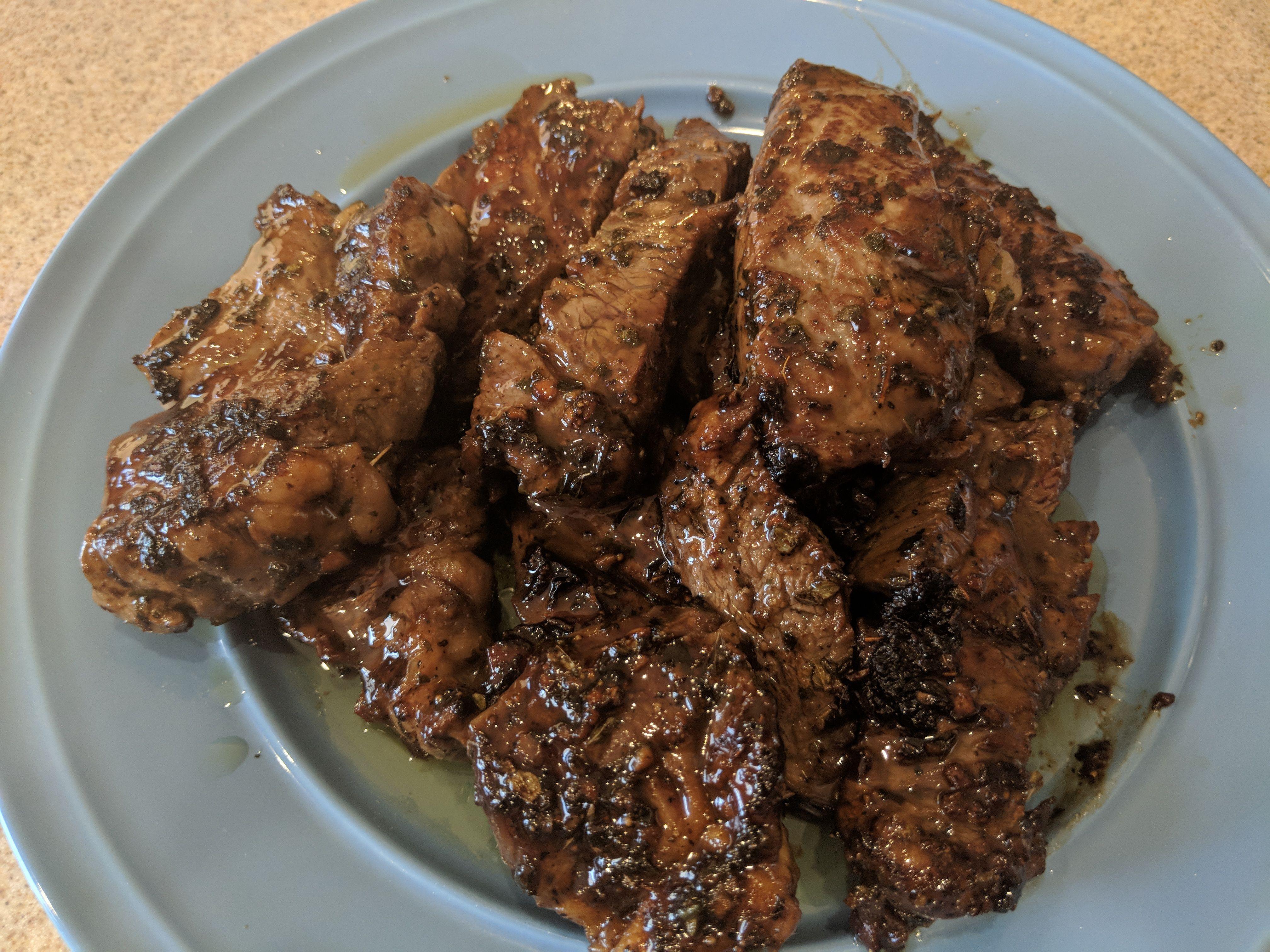 Mediterranean Steak Strips Food Recipes Strip Steak Easy Delicious Recipes