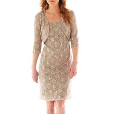 910ef1c6e2 JCPenny   90 on sale R M Richards Lace Sheath Dress with Jacket found at   JCPenney