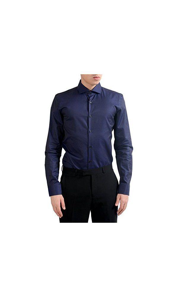 a81bc9b46 59.99$ - Hugo Boss Slim Fit Two Ply C-Jason Men s Purple Dress Shirt ...