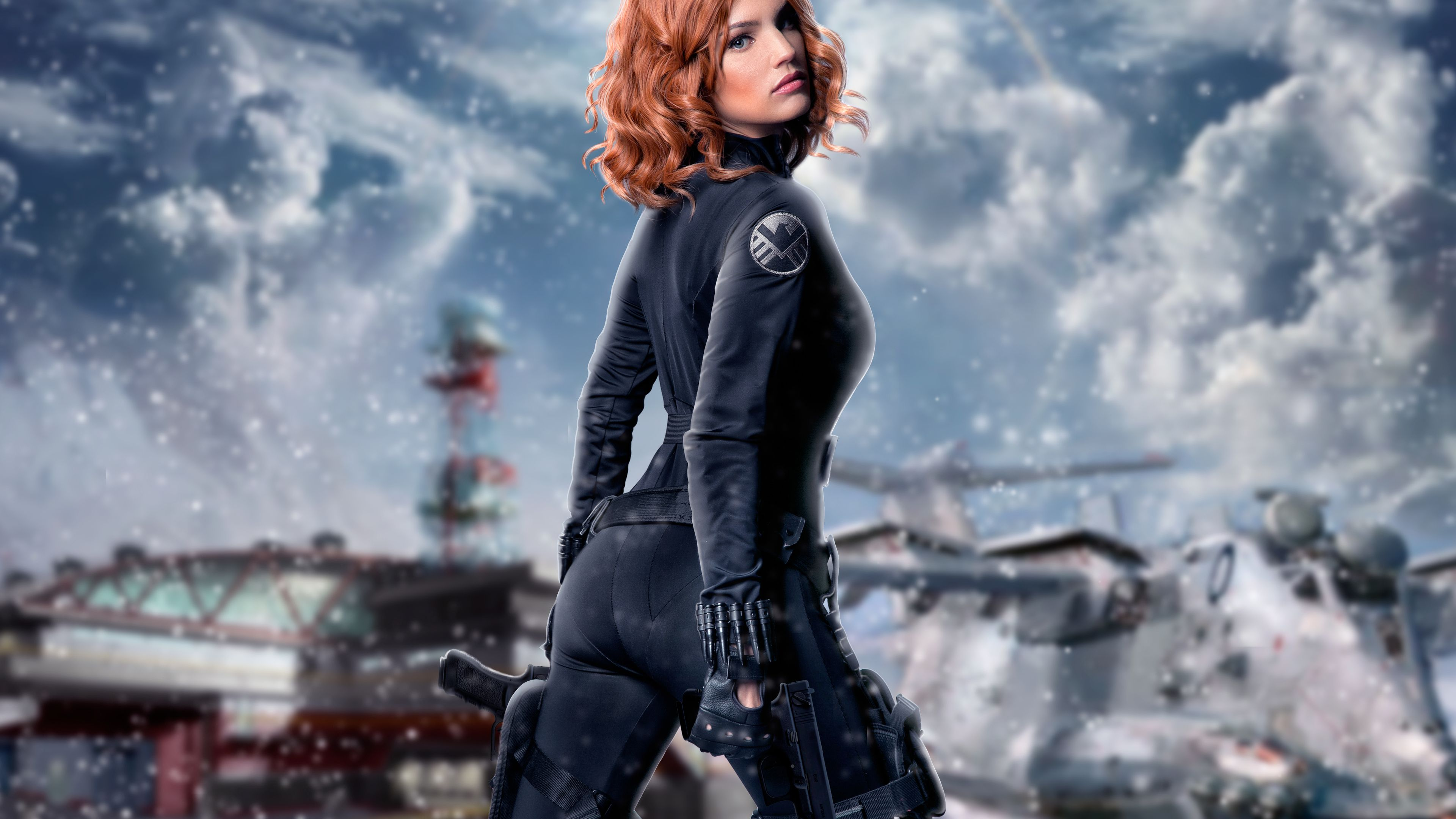 Black Widow Cosplay 4k superheroes wallpapers, hd-wallpapers, cosplay wallpapers, black widow wallpapers, 4k-wallpapers