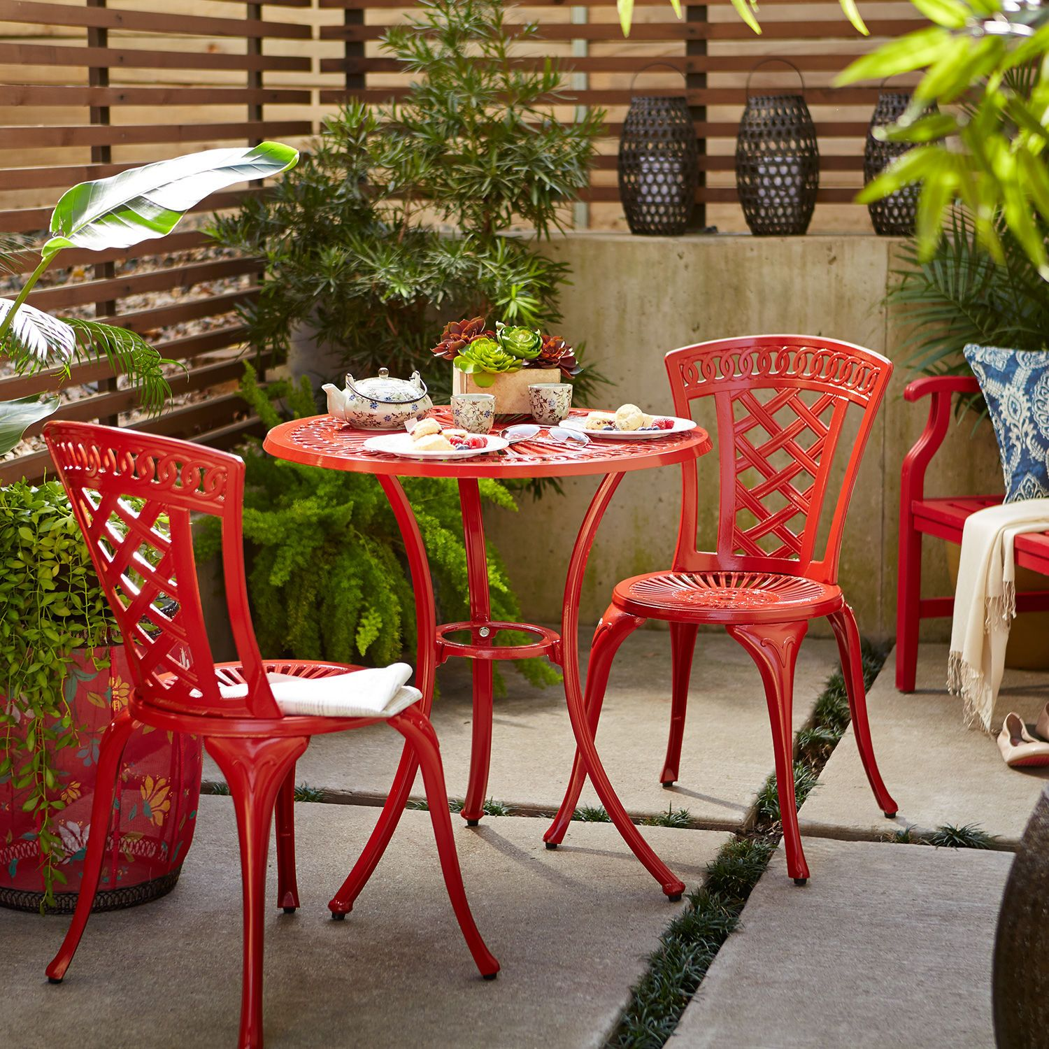 Neely Bistro Set - Red | Pier 1 Imports | Outdoor dining ...