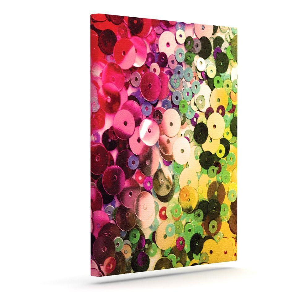 "Louise Machado ""Spots"" Multicolor Sparkle Outdoor Canvas Art"