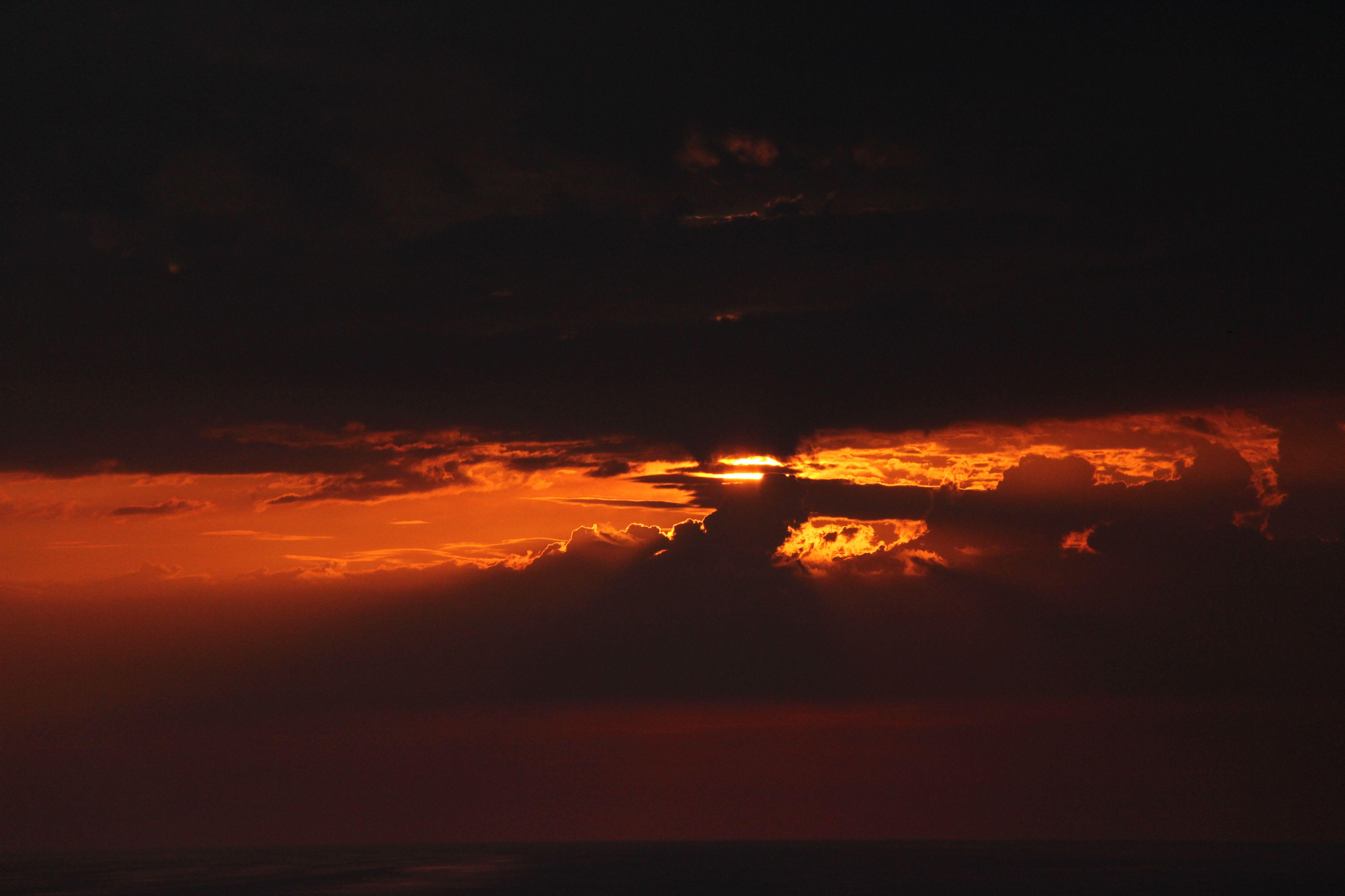 Orange sky!