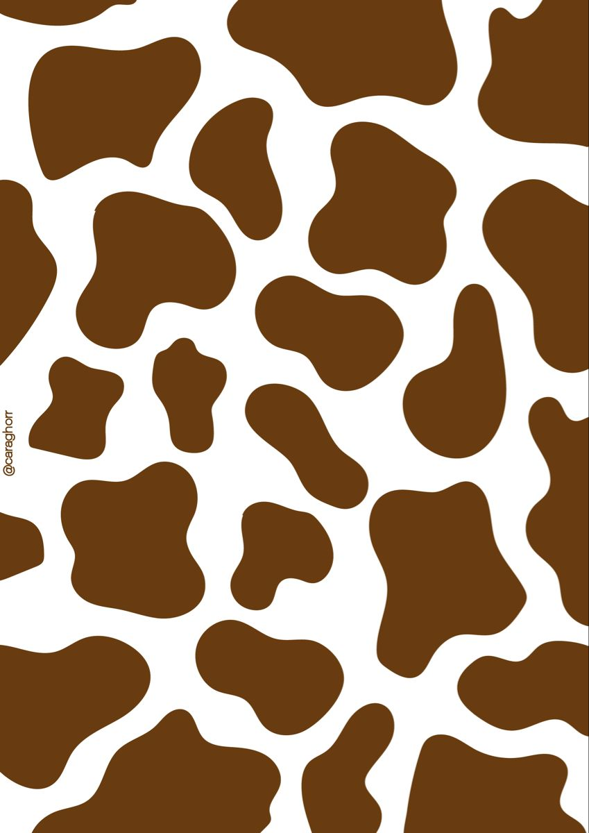Brown Cow Caraghorr Cow Print Wallpaper Iphone Wallpaper Tumblr Aesthetic Cow Wallpaper
