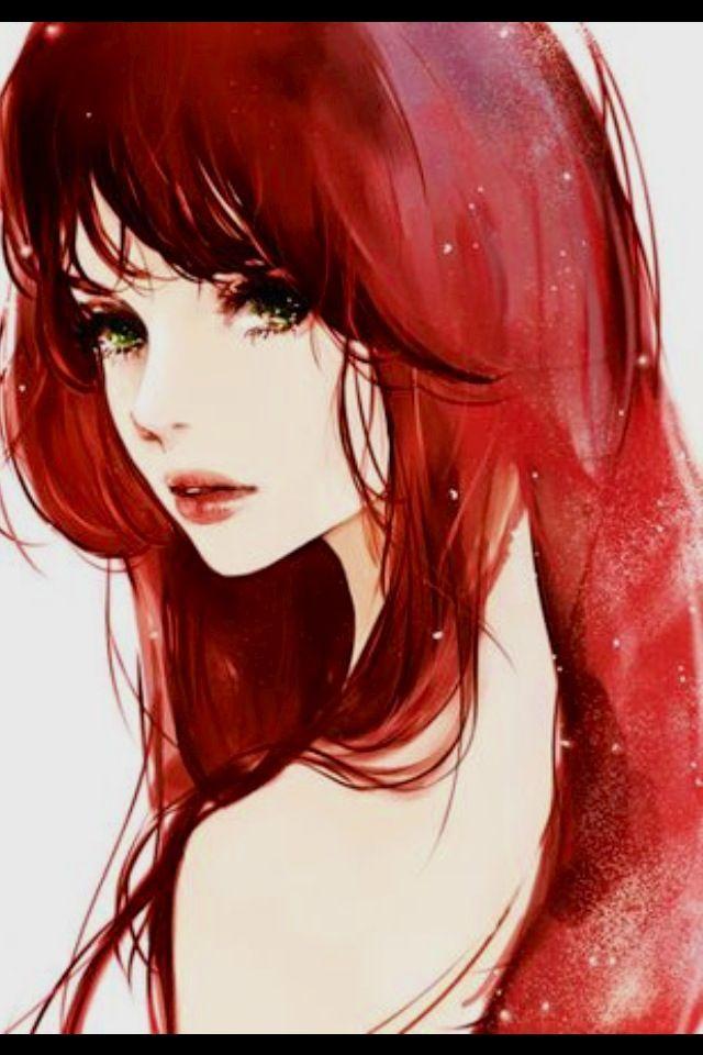 Red Hair Anime Anime Art