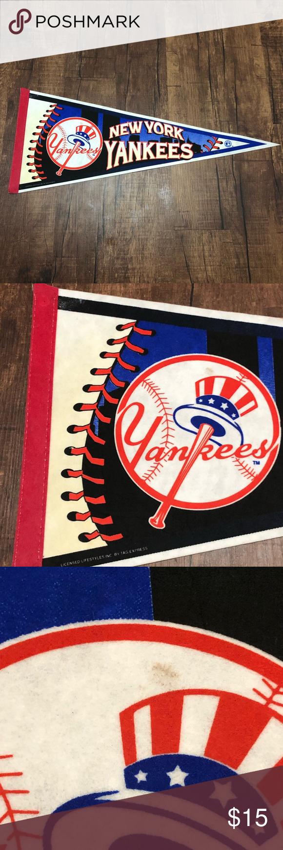 1998 New York Yankees Baseball Pennant New York Yankees Baseball Yankees Baseball