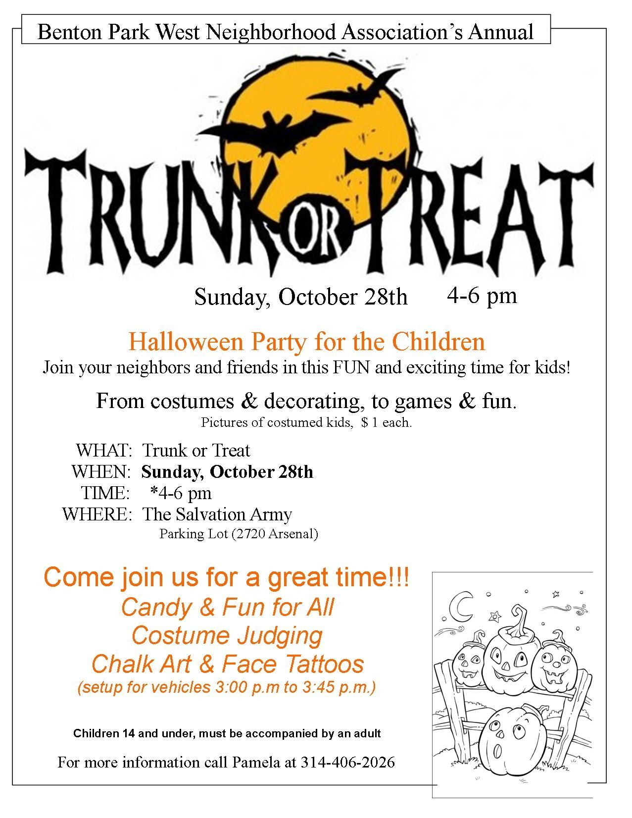 Trunk or Treat (Flyer Layout Idea) | FRG Festivities | Pinterest ...