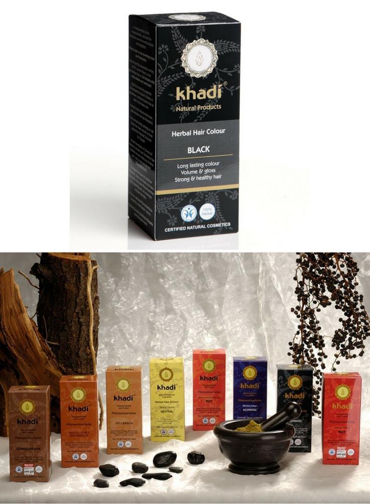 khadi naturprodukte pflanzenhaarfarbe schwarz mà delszeug