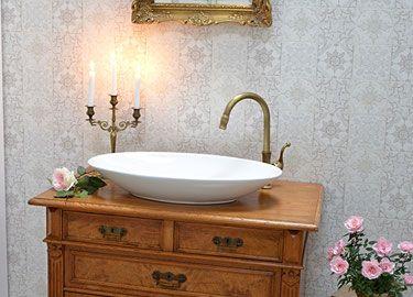 Badezimmermöbel Antik ~ Badmöbel landhaus wer in seinem zuhause angekommen ist wirft