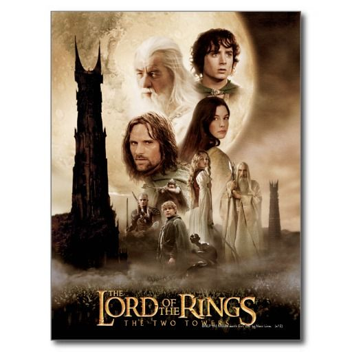Lord Of The Rings The Two Towers Movie Poster Postcard Zazzle