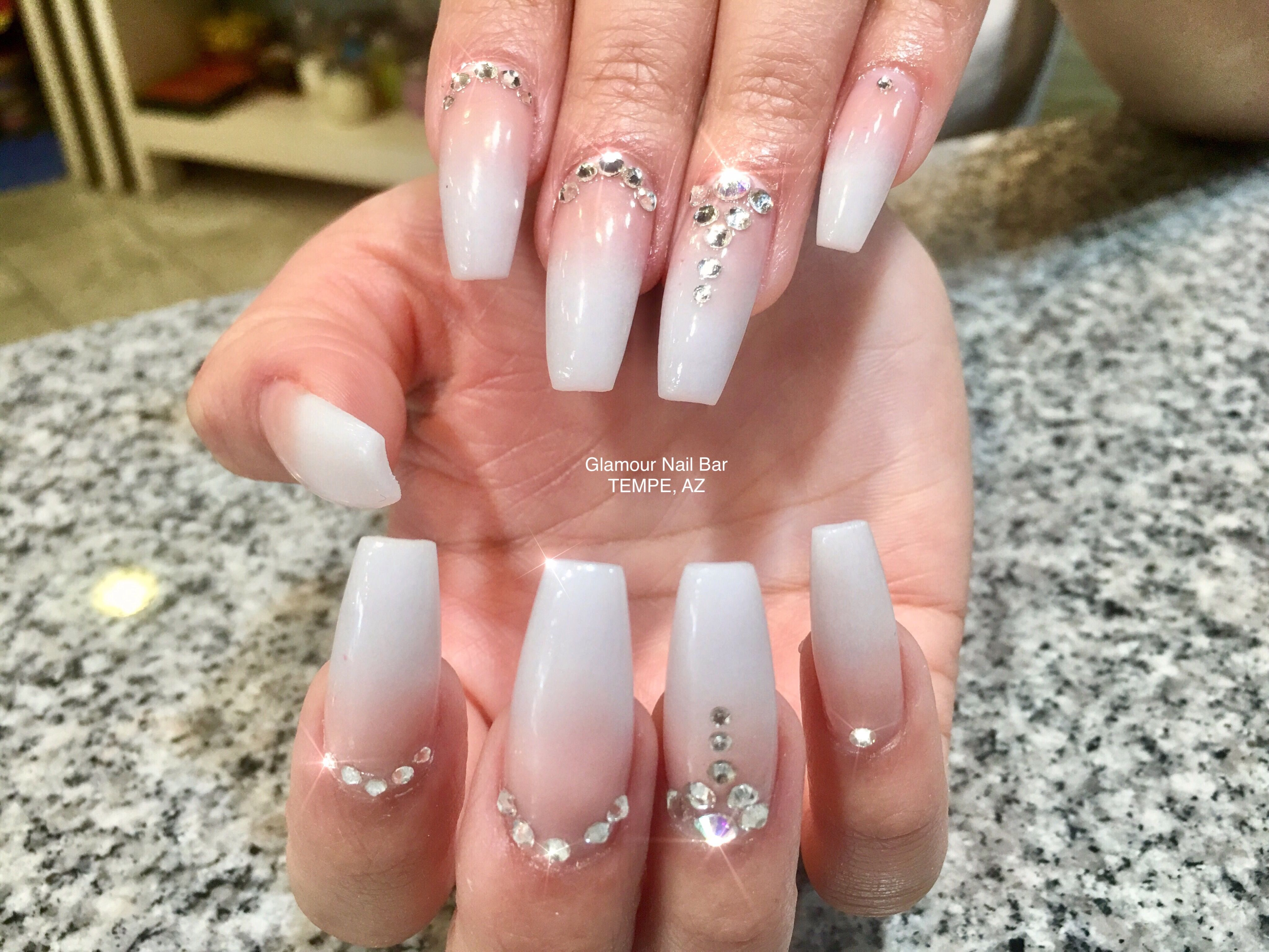 Coffin Nails Acrylic Nails Nude Ombre Ombre Nails Nail Art Long