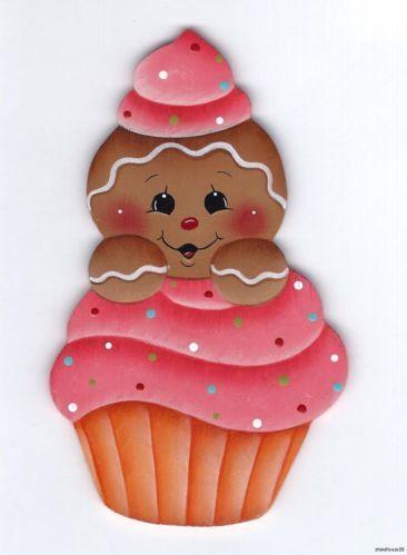 Hp Gingerbread In A Cupcake Fridge Magnet Manualidades Manualidades Navidenas Adornos De Pan De Jengibre