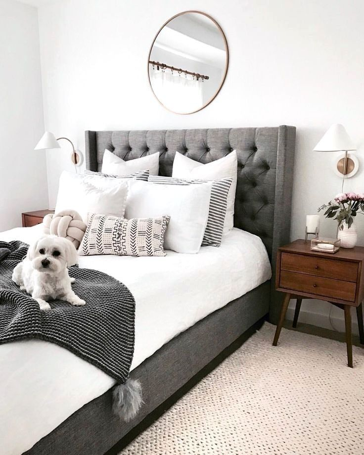 50 Sleigh Bed Inspirations For A Cozy Modern Bedroom: 50 Awesome Grey Bedroom Ideas 10