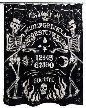 Skeleton Ouija- Shower Curtain – The Moon Cult