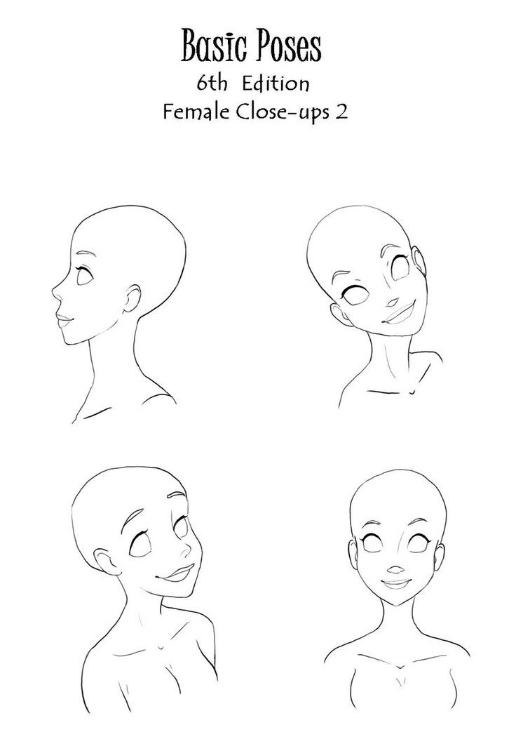 Base Poses Female Close Up 2 Anime Poses Anime Nose Anime Poses Reference