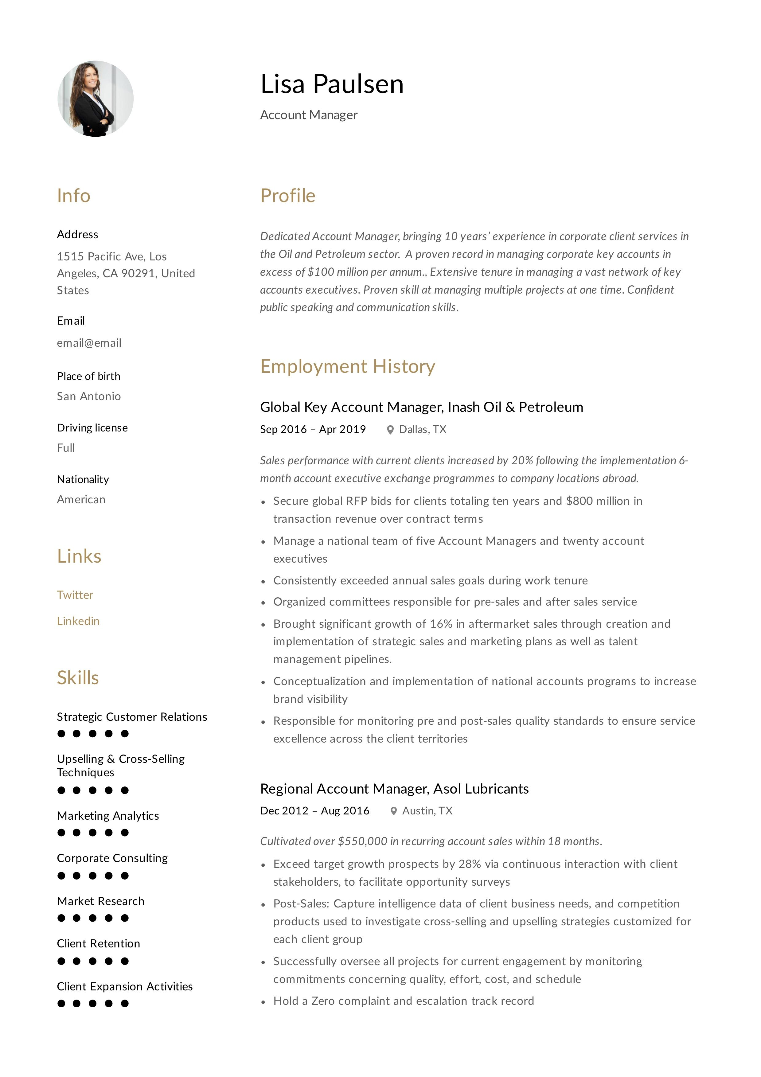 Account Manager Resume Writing Guide In 2020 Resume Guide Manager Resume Resume