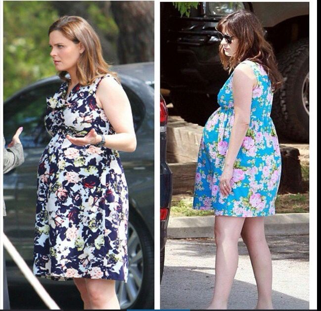 Emily and Zooey both pregnant at the same time! how cute ...