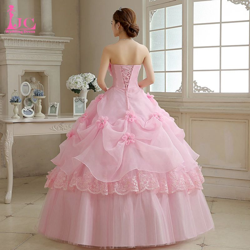 LJC Hot Sale Sweet 16 Dresses Strapless Quinceanera Dresses Cheap ...