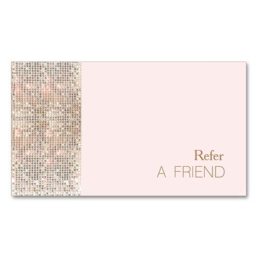 Faux sequin beauty salon refer a friend light pink referral card faux sequin beauty salon refer a friend light pink referral card fbccfo Choice Image