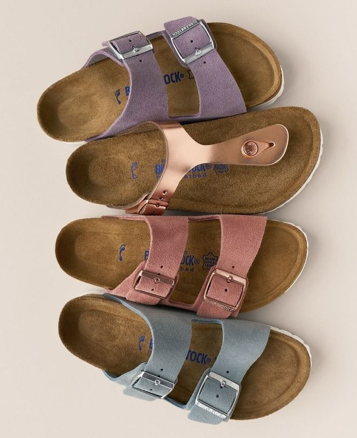 d8d2b0d9786c Adoring these classic Birkenstock sandals in a variety of cute spring  colors.