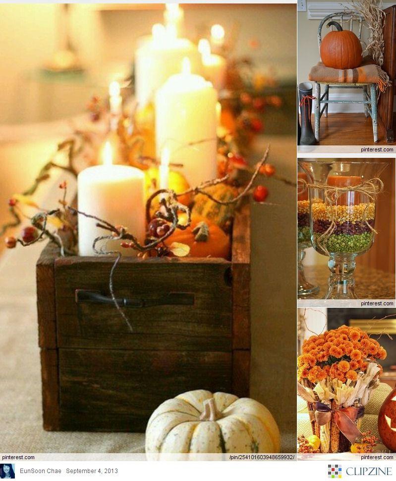 Fall Decorating Ideas Love, love, love Pinterest Holidays