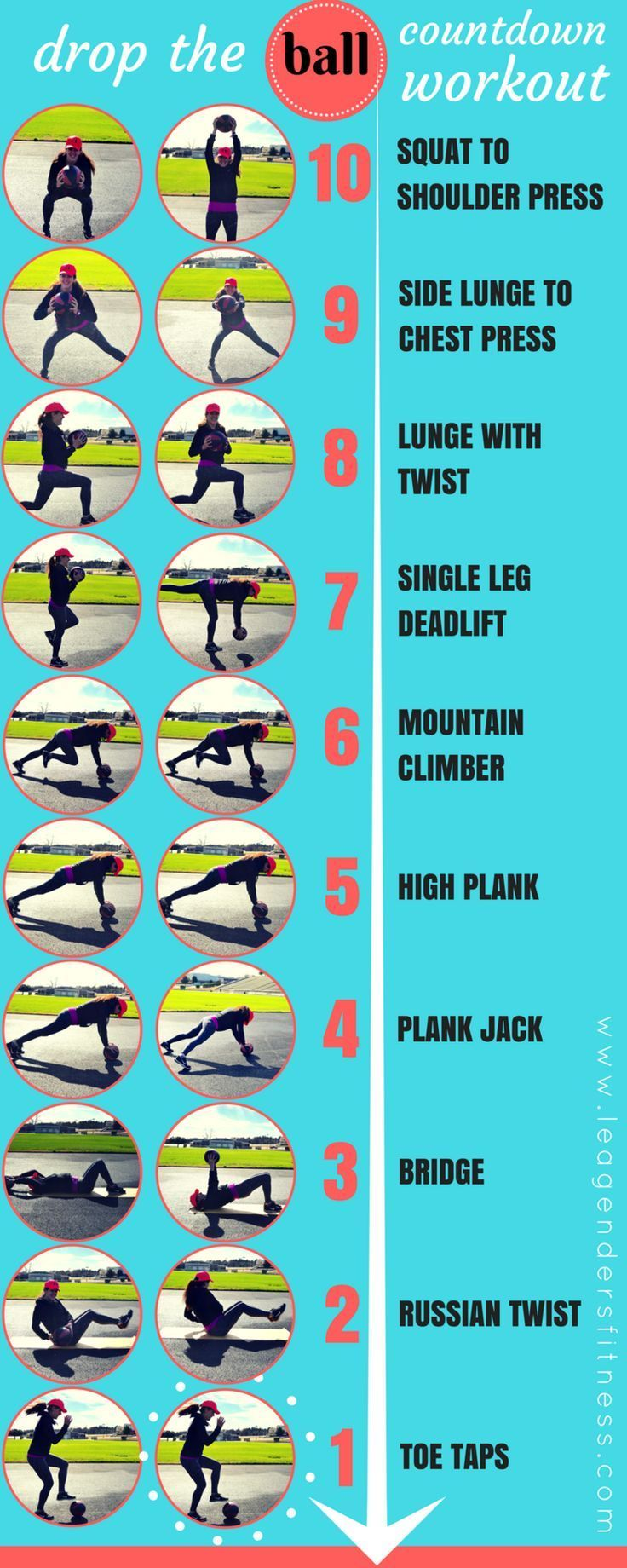 DROP THE (MEDICINE) BALL COUNTDOWN WORKOUT #Medballworkout ...