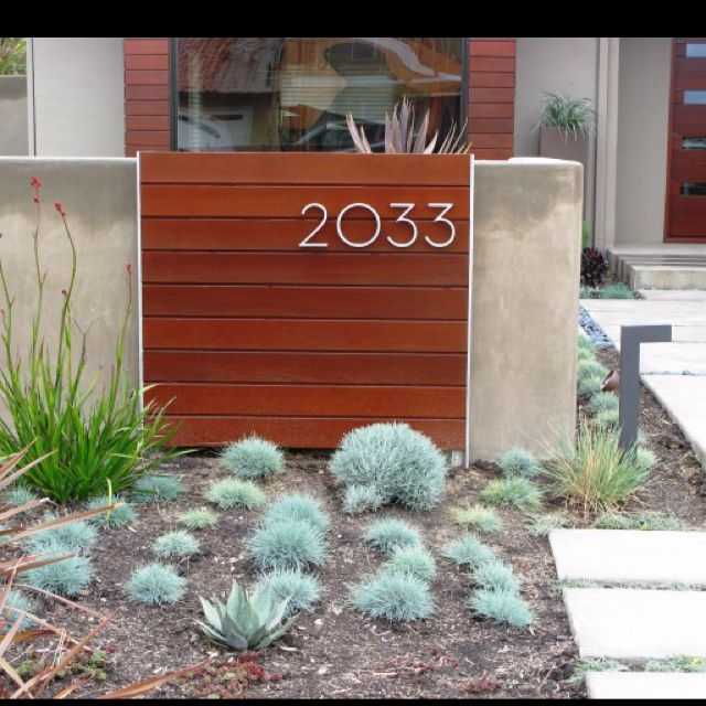 Pin By Janice Gilbar Treadwell On Modern Home Exteriors Contemporary Landscape Design House Numbers Modern Landscaping