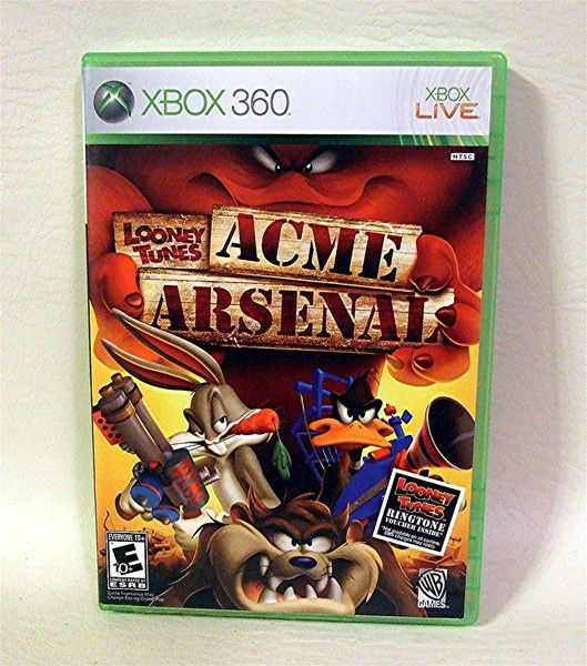 X Box 360 Game Looney Tunes Acme Arsenal Games Xbox Xbox 360 Games