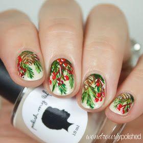 The Beauty Buffs Holiday Theme Deck The Halls Nail Art Nails
