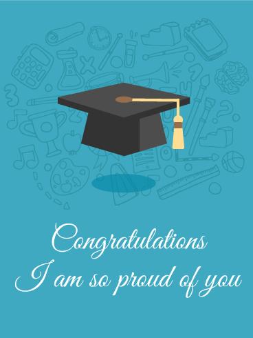 Proud Of You Graduation Card Birthday Greeting Cards By Davia Graduation Congratulations Quotes Congratulations Graduate Congratulations Images