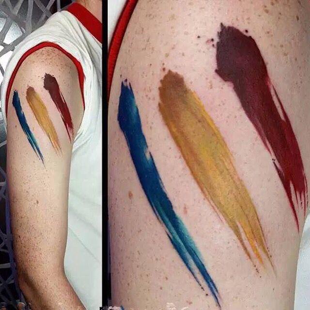 Water Color Tattoo Brush Stroke Tattoo Brush Tattoo Tattoo Designs