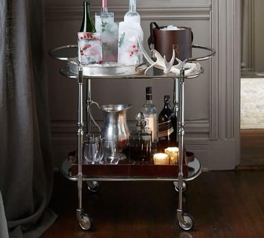 Bar Cart Trend: The Essentials For Your Home Office