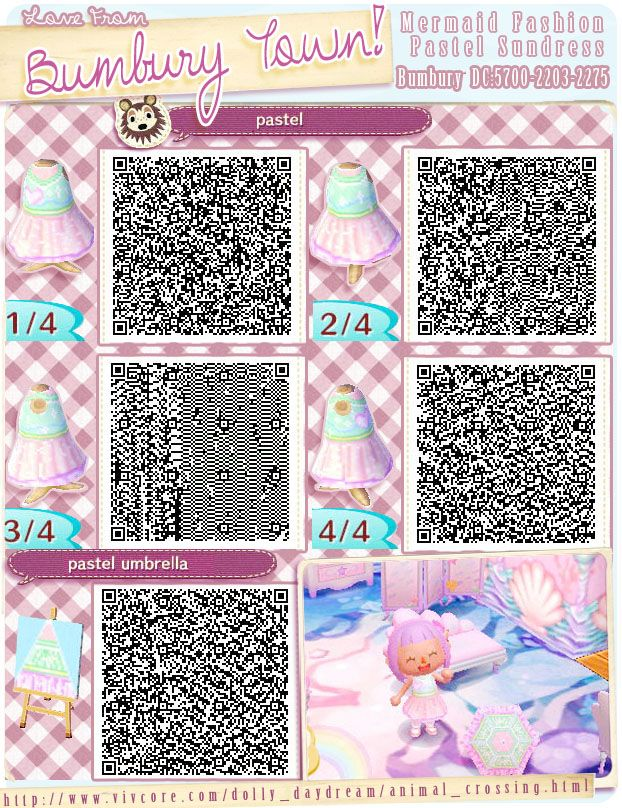 Part of the Bunbury Mermaid Clothes collection Pastel Dress Heart on chest  \u0026 wig. Mostly, I am working on Animal Crossing New Leaf